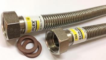 """Гибкий гофрированный шланг ECO-FLEX 3/4"""" для газа из нержавеющей стали"""