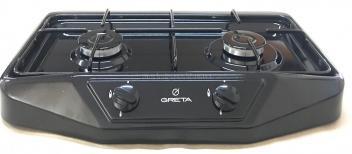 Плита газовая настольная двухгорелочная GRETA 1103 черная